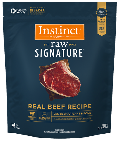 Instinct® Raw Signature™ Frozen Medallions Real Beef Recipe