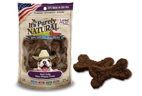 It's Purely Natural® Beef Jerky Bone-Shaped Treats for Dogs