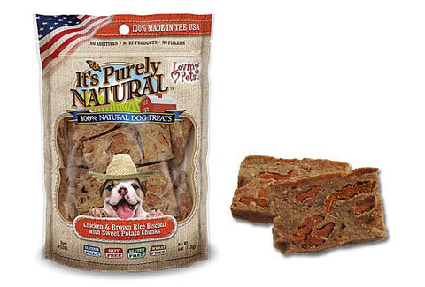 It's Purely Natural® Chicken and Brown Rice Biscotti with Sweet Potato Chunks for Dogs