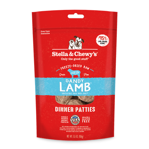 Stella & Chewy's Dandy Lamb Freeze-Dried Dinner Patties for Dogs