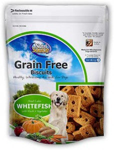 NutriSource® Grain Free Great Lakes White Fish Biscuits for Dogs
