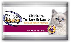 NutriSource® Chicken, Turkey & Lamb Cat and Kitten Formula
