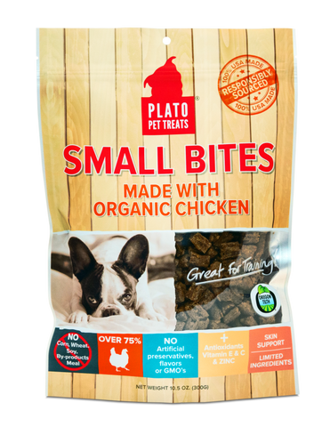 Plato Small Bites - Made with Organic Chicken Dog Treats