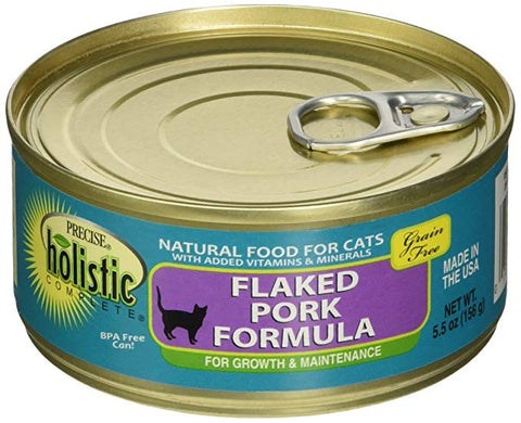 Precise Holistic Complete Grain Free Flaked Pork Formula Wet Cat Food