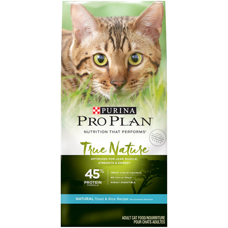 Pro Plan TRUE NATURE Adult Formula Natural Trout & Rice Recipe Dry Cat Food