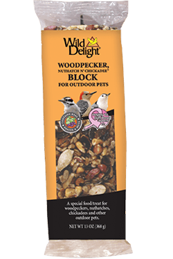 Wild Delights Woodpecker, Nuthatch N' Chickadee® Block
