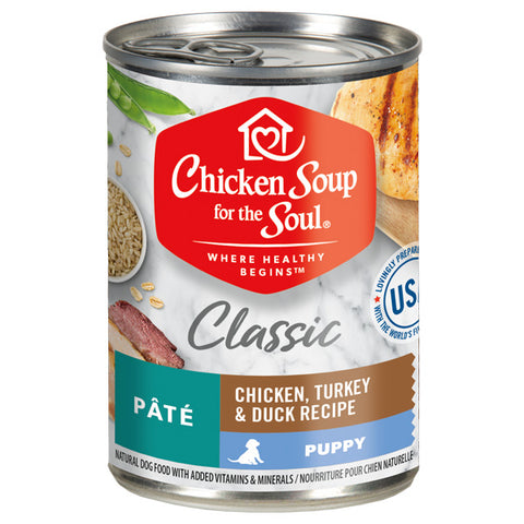 Chicken Soup for the Soul® Classic Puppy Wet Food - Chicken, Turkey & Duck Recipe Pâté