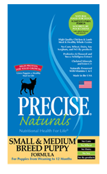 Precise Naturals Small & Medium Breed Puppy Dog Food