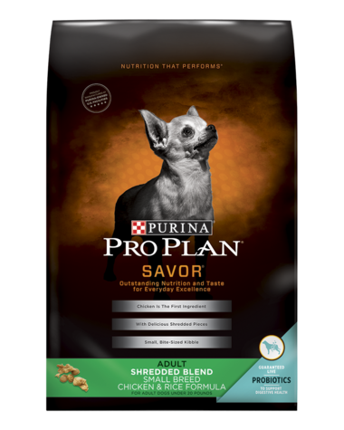 Pro Plan SAVOR Adult Shredded Blend Small Breed Chicken & Rice Formula