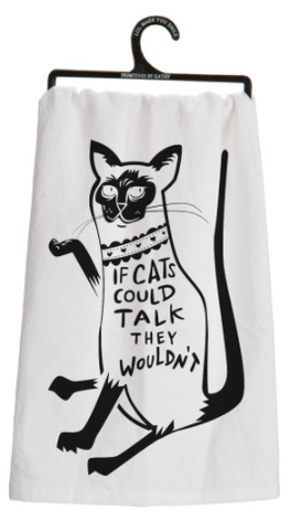 Dish Towel - Cats Could Talk