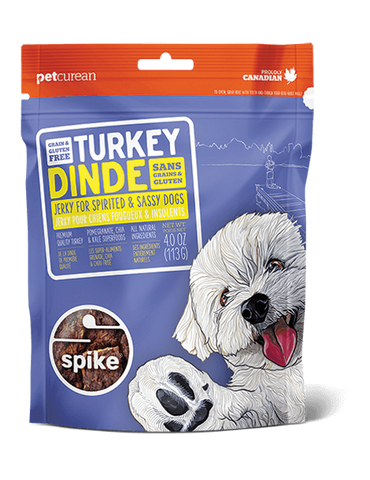 Spike Grain Free Turkey Jerky for Dogs