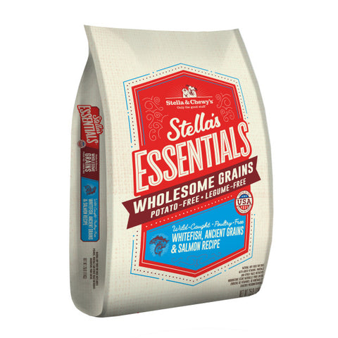 Stella & Chewy's Essentials Dog Kibble Wild-Caught Whitefish, Ancient Grains & Salmon