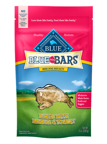 Blue Buffalo BLUE Mini Bars® Banana & Yogurt for Dogs