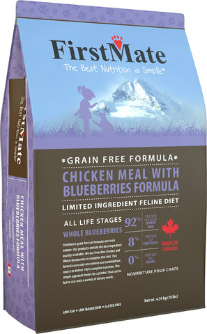FirstMate™ Grain Free Limited Ingredient Diet Chicken Meal with Blueberries Formula Cat Food 10 Lbs