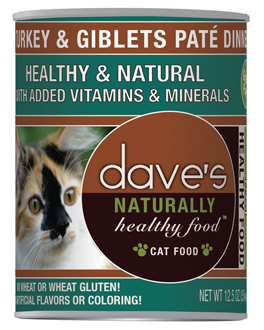 Dave's Naturally Healthy™ Canned Cat Food Turkey & Giblets Paté