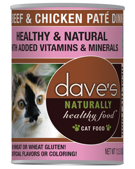 Dave's Naturally Healthy™ Canned Cat Food Beef & Chicken Paté