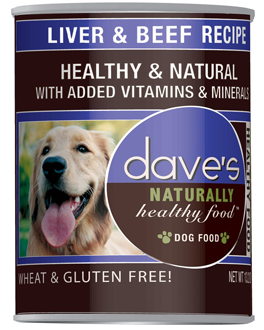 Dave's Naturally Healthy™ Liver and Beef Canned Dog Food