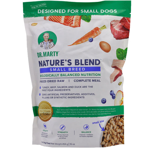 Dr. Marty's Premium Freeze Dried Nature's Blend Small Breed Dog Food, 6oz