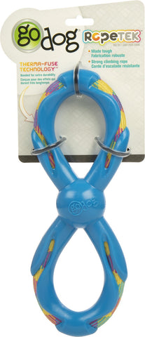 goDog® Rope Tek Figure 8 Dog Toy