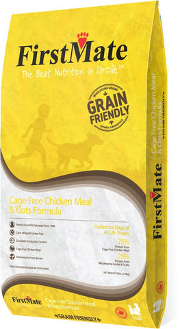 FirstMate™ Grain Friendly Cage Free Chicken Meal & Oats Formula Dog Food 25 Lbs