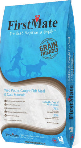 FirstMate™ Grain Friendly Wild Pacific Caught Fish & Oats Formula Dog Food 25 Lbs