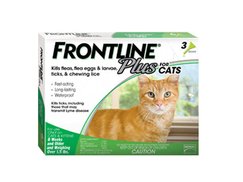 Frontline Plus Flea and Tick Prevention for Cats