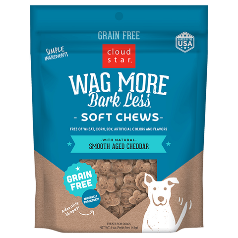 Wag More Bark Less Soft & Chewy Treats: Smooth Aged Cheddar