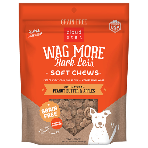 Wag More Bark Less Soft & Chewy Treats: Peanut Butter & Apples