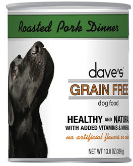 Dave's Grain Free™ Canned Dog Food Roasted Pork Dinner Recipe
