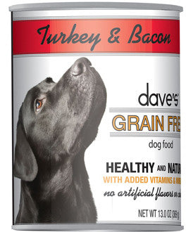 Dave's Grain Free™ Canned Dog Food Turkey and Bacon Recipe
