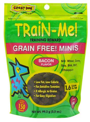 Train-Me Reward Treats Grain Free Mini's - Bacon for Dogs