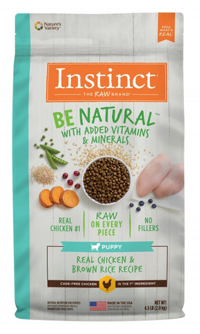 Instinct® Be Natural™ Real Chicken & Brown Rice Recipe for Puppies