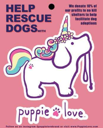 Puppie Love Decal - Unicorn