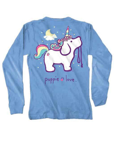 Puppie Love Long Sleeve T-Shirt Unicorn