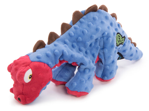 goDog® Dinos Spike with Chew Guard Technology Squeaker Plush Dog Toy, Large