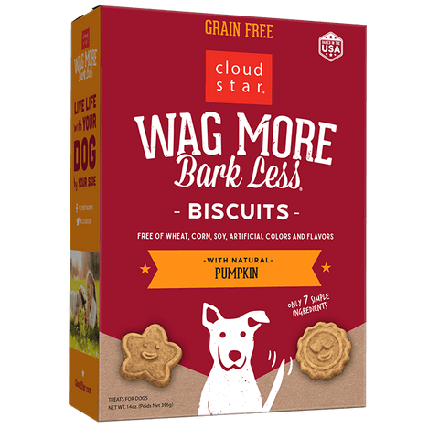Wag More Bark Less Oven Baked Biscuits: Pumpkin