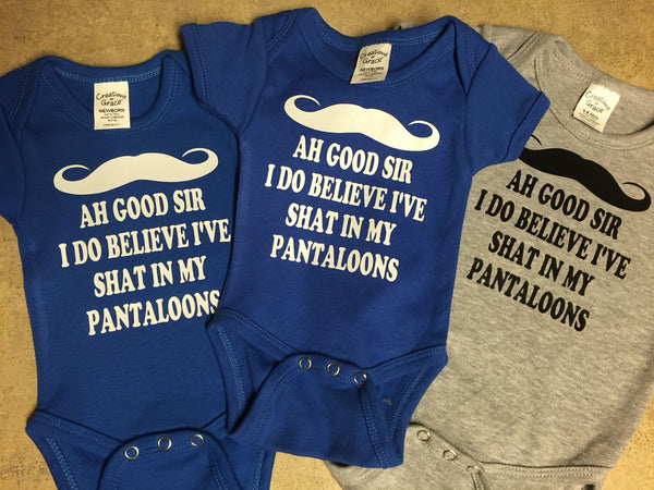 Shat My Pantaloons Baby Onesie ,Brand It Creations