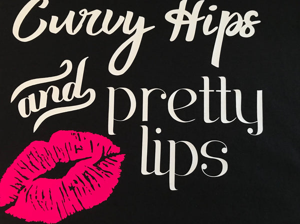 Curvy Hips and Pretty Lips- Lipsense T-shirt