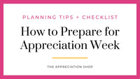 Preparation for Teacher and Staff Appreciation Week