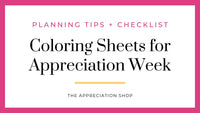 Coloring Sheets for Teacher and Staff Appreciation Week