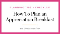 How To Plan a Breakfast