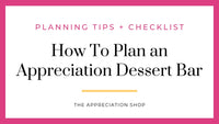 How to Plan a Dessert Bar at your School