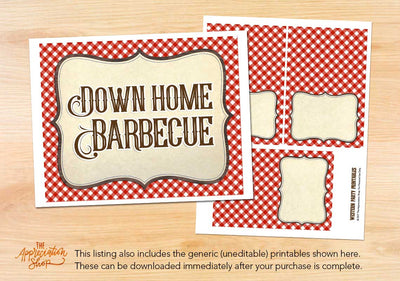 Down Home BBQ Printables - The Appreciation Shop