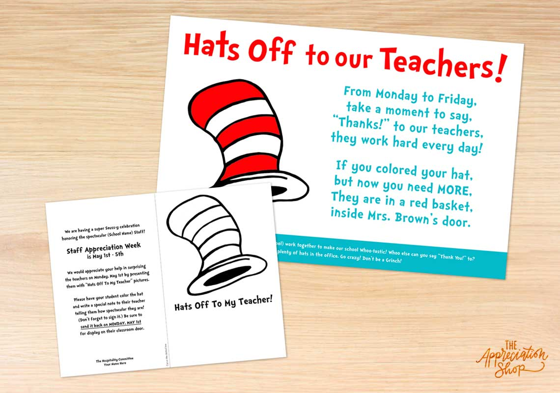 """Hats Off"" Coloring Sheet and Poster - The Appreciation Shop"
