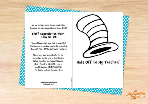 """Hats Off"" Coloring Sheet - The Appreciation Shop"