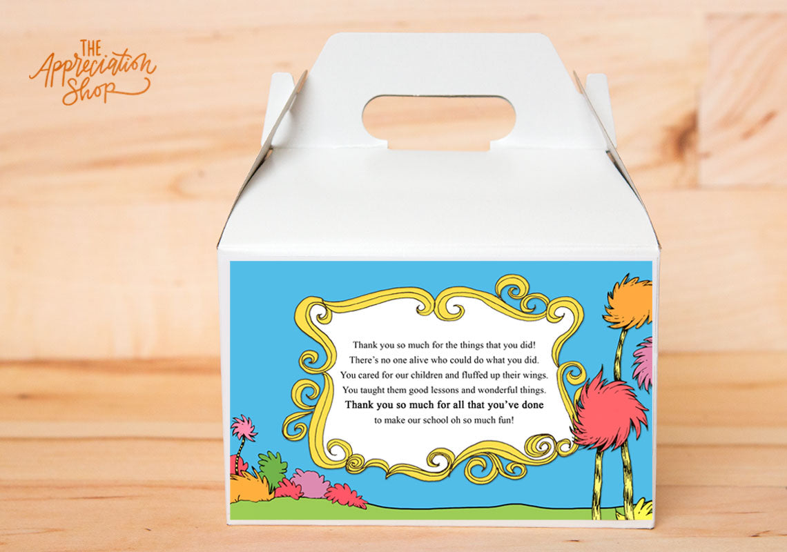 Dr. Seuss Gable Box Label - The Appreciation Shop