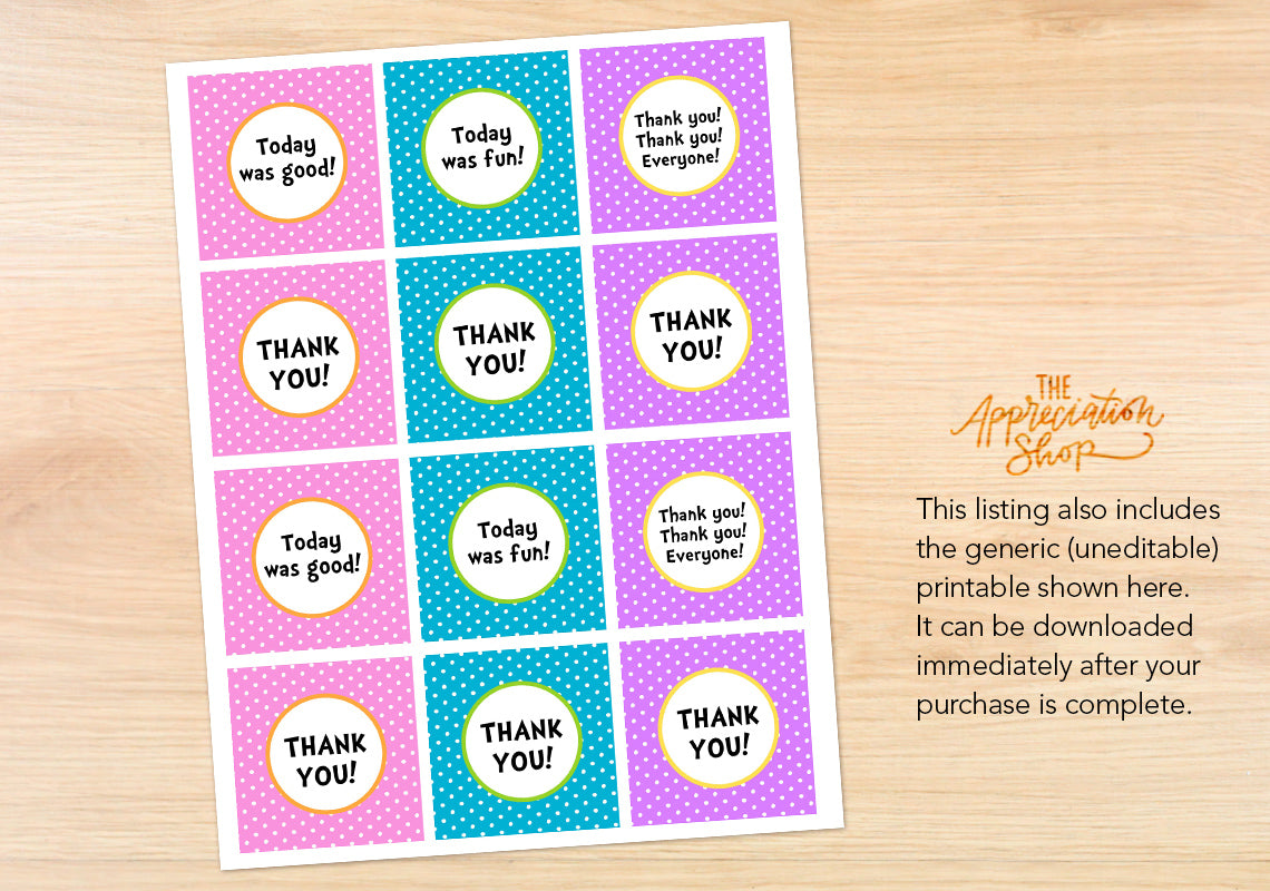 Who-Tastic Party Circles - The Appreciation Shop