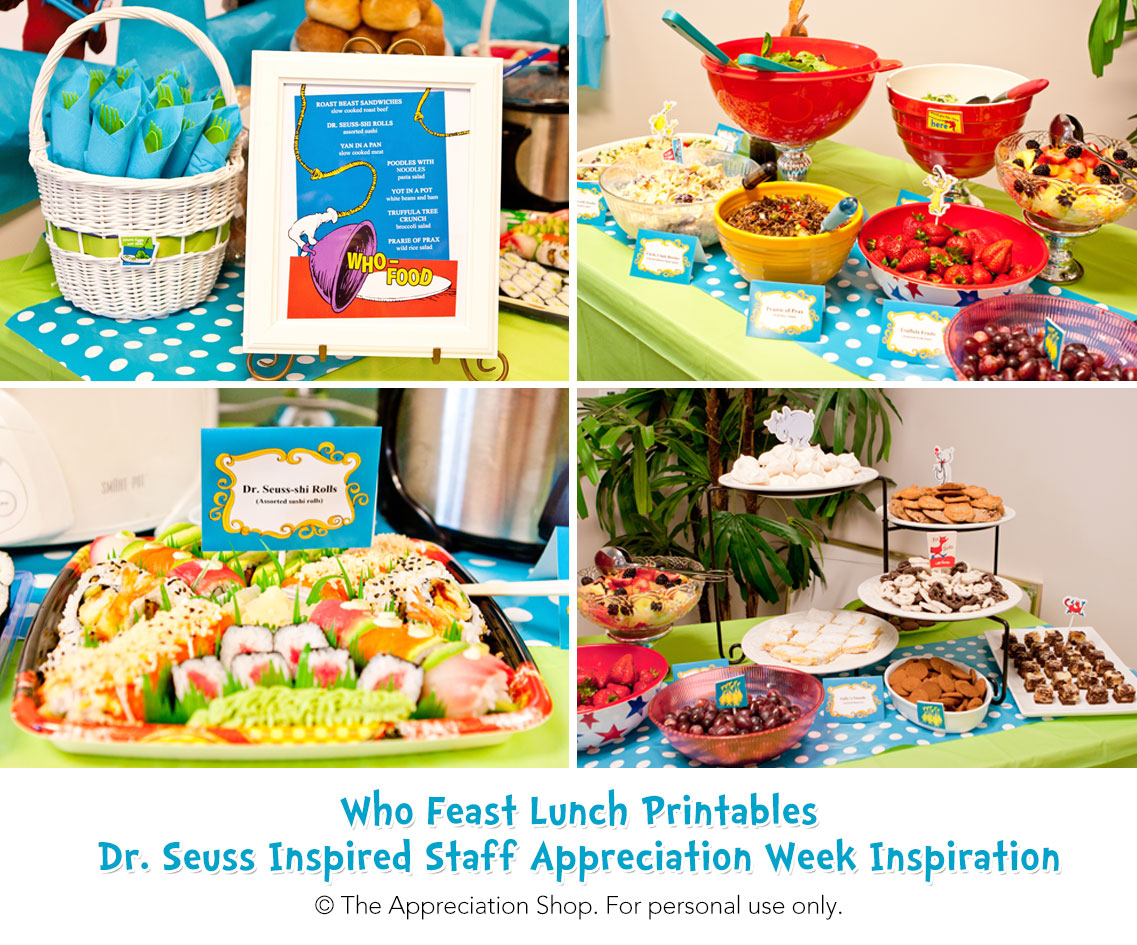 Who Feast Printables - The Appreciation Shop