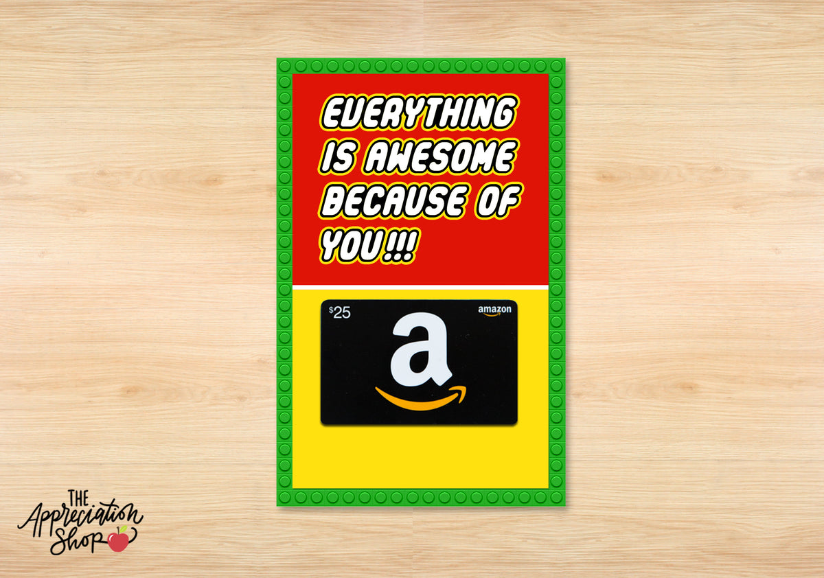 LEGO Inspired Gift Card Holder - The Appreciation Shop