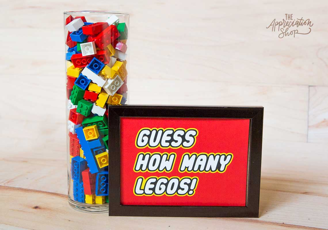 """Guess How Many Legos"" Sign - The Appreciation Shop"